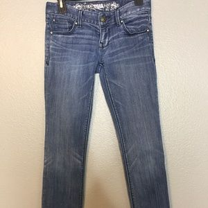 Express Skinny Jeans 0r Stella Low Rise Faded
